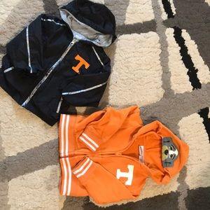 Jackets & Blazers - 2T Tennessee gear. one jacket, one wind breaker.